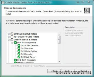 Cole2k Media Codec Pack Advanced 8.0.6